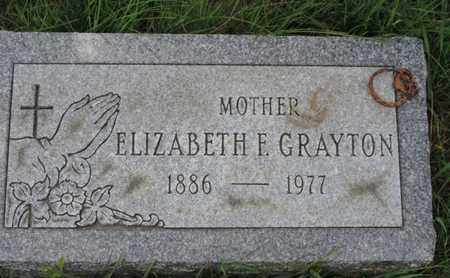 GRAYTON, ELIZABETH F - Franklin County, Ohio | ELIZABETH F GRAYTON - Ohio Gravestone Photos