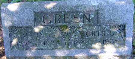GREEN, WORTH G - Franklin County, Ohio | WORTH G GREEN - Ohio Gravestone Photos