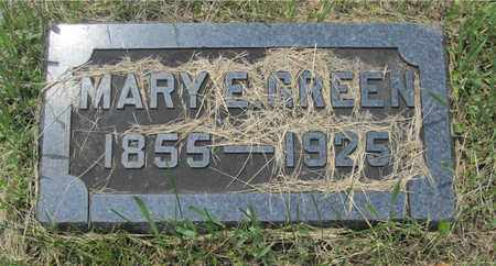 GREEN, MARY E. - Franklin County, Ohio | MARY E. GREEN - Ohio Gravestone Photos