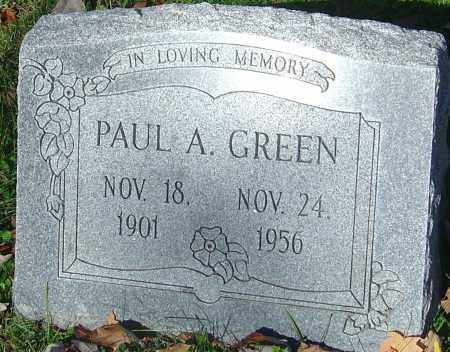 GREEN, PAUL A - Franklin County, Ohio | PAUL A GREEN - Ohio Gravestone Photos
