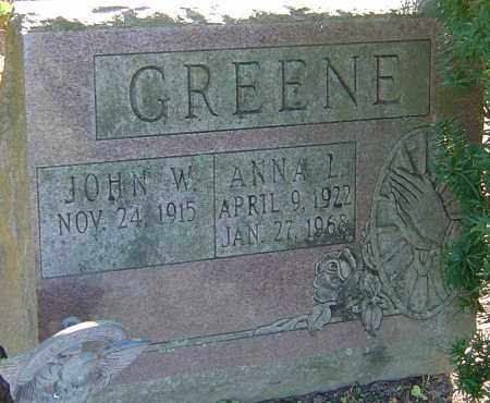 GREENE, ANNA L - Franklin County, Ohio | ANNA L GREENE - Ohio Gravestone Photos