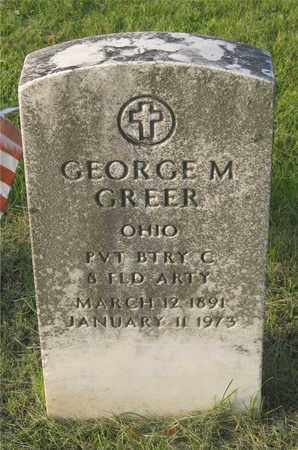 GREER, GEORGE M. - Franklin County, Ohio | GEORGE M. GREER - Ohio Gravestone Photos