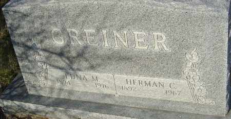GREINER, HERMAN - Franklin County, Ohio | HERMAN GREINER - Ohio Gravestone Photos