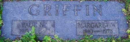 GRIFFIN, MARGARET - Franklin County, Ohio | MARGARET GRIFFIN - Ohio Gravestone Photos