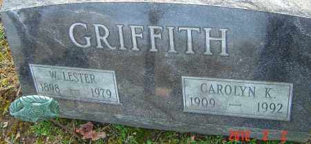 GRIFFITH, W LESTER - Franklin County, Ohio | W LESTER GRIFFITH - Ohio Gravestone Photos