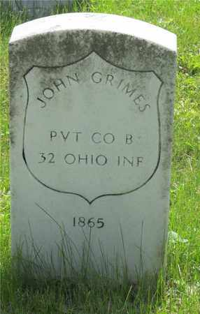 GRIMES, JOHN - Franklin County, Ohio | JOHN GRIMES - Ohio Gravestone Photos