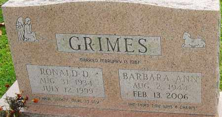 GRIMES, BARBARA - Franklin County, Ohio | BARBARA GRIMES - Ohio Gravestone Photos