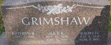 GRIMSHAW, ALICE - Franklin County, Ohio | ALICE GRIMSHAW - Ohio Gravestone Photos