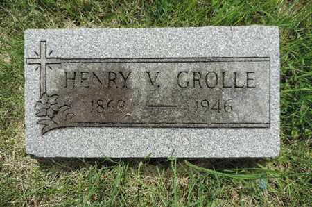 GROLLE, HENRY V. - Franklin County, Ohio | HENRY V. GROLLE - Ohio Gravestone Photos