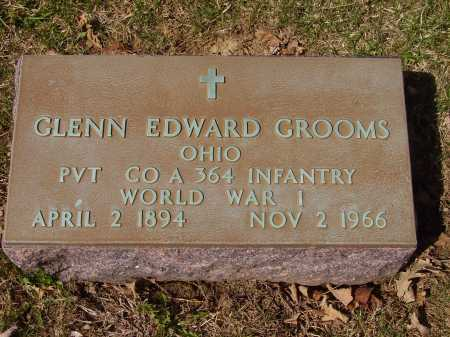 GROOMS, GLENN EDWARD - MILITARY - Franklin County, Ohio | GLENN EDWARD - MILITARY GROOMS - Ohio Gravestone Photos