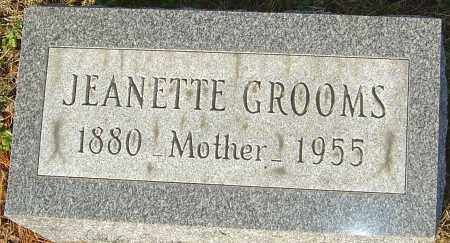 GROOMS, JEANETTE - Franklin County, Ohio | JEANETTE GROOMS - Ohio Gravestone Photos