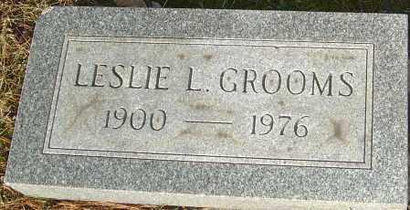 GROOMS, LESLIE L - Franklin County, Ohio | LESLIE L GROOMS - Ohio Gravestone Photos