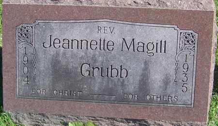 MAGILL GRUBB, JEANNETTE - Franklin County, Ohio | JEANNETTE MAGILL GRUBB - Ohio Gravestone Photos