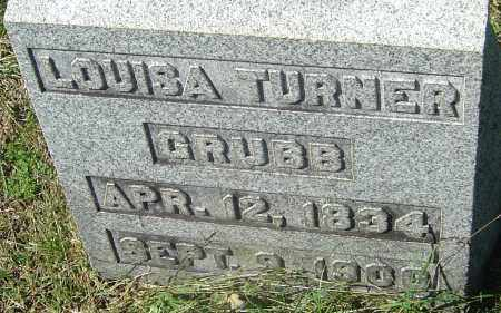 TURNER GRUBB, LOUISA - Franklin County, Ohio | LOUISA TURNER GRUBB - Ohio Gravestone Photos