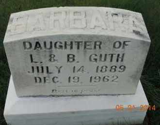 GUTH, BARBARA - Franklin County, Ohio | BARBARA GUTH - Ohio Gravestone Photos