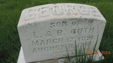 GUTH, GEORGE - Franklin County, Ohio | GEORGE GUTH - Ohio Gravestone Photos