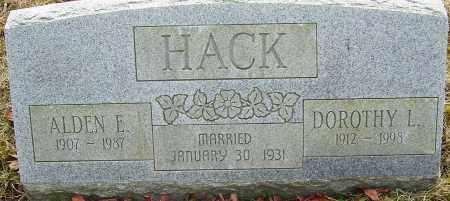 HACK, ALDEN E - Franklin County, Ohio | ALDEN E HACK - Ohio Gravestone Photos