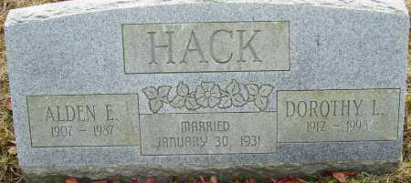 HACK, DOROTHY L - Franklin County, Ohio | DOROTHY L HACK - Ohio Gravestone Photos