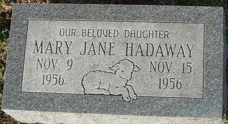 HADAWAY, MARY JANE - Franklin County, Ohio | MARY JANE HADAWAY - Ohio Gravestone Photos