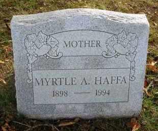 HAFFA, MYRTLE A. - Franklin County, Ohio | MYRTLE A. HAFFA - Ohio Gravestone Photos