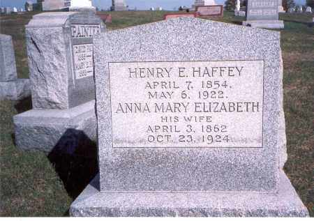 HAFFEY, HENRY E. - Franklin County, Ohio | HENRY E. HAFFEY - Ohio Gravestone Photos