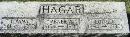 HAGAR, LUTHER - Franklin County, Ohio | LUTHER HAGAR - Ohio Gravestone Photos