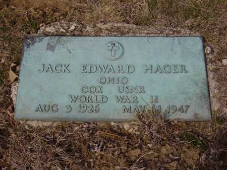 HAGER, JACK EDWARD - MILITARY - Franklin County, Ohio | JACK EDWARD - MILITARY HAGER - Ohio Gravestone Photos