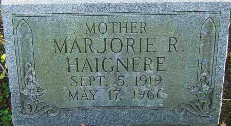 HAIGNERE, MARJORIE - Franklin County, Ohio | MARJORIE HAIGNERE - Ohio Gravestone Photos