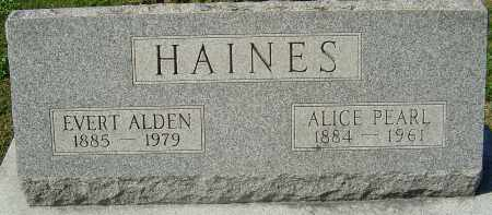 HAINES, EVERT ALDEN - Franklin County, Ohio | EVERT ALDEN HAINES - Ohio Gravestone Photos