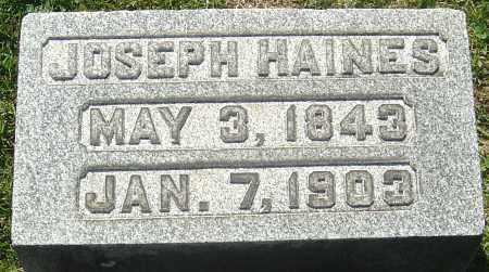 HAINES, JOSEPH - Franklin County, Ohio | JOSEPH HAINES - Ohio Gravestone Photos