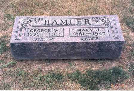 HAMLER, MARY J. - Franklin County, Ohio | MARY J. HAMLER - Ohio Gravestone Photos