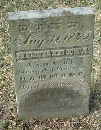 HAMMOND, HENRIETTA - Franklin County, Ohio | HENRIETTA HAMMOND - Ohio Gravestone Photos