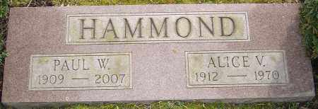 HAMMOND, ALICE V - Franklin County, Ohio | ALICE V HAMMOND - Ohio Gravestone Photos
