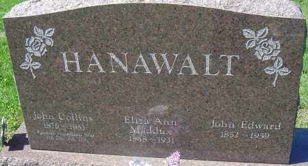 HANAWALT, JOHN COLLINS - Franklin County, Ohio | JOHN COLLINS HANAWALT - Ohio Gravestone Photos