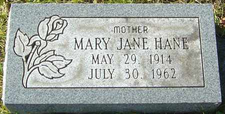 HANE, MARY JANE - Franklin County, Ohio | MARY JANE HANE - Ohio Gravestone Photos