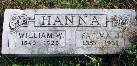 HANNA, WILLIAM W. - Franklin County, Ohio | WILLIAM W. HANNA - Ohio Gravestone Photos