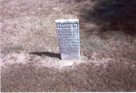 HANNER, FRANCIS M - Franklin County, Ohio | FRANCIS M HANNER - Ohio Gravestone Photos