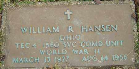 HANSEN, WILLIAM R - Franklin County, Ohio | WILLIAM R HANSEN - Ohio Gravestone Photos