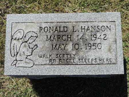 HANSON, RONALD L. - Franklin County, Ohio | RONALD L. HANSON - Ohio Gravestone Photos