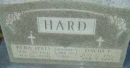 HARD, DAVID - Franklin County, Ohio | DAVID HARD - Ohio Gravestone Photos