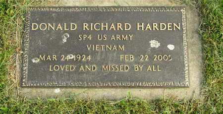 HARDEN, DONALD RICHARD - Franklin County, Ohio | DONALD RICHARD HARDEN - Ohio Gravestone Photos