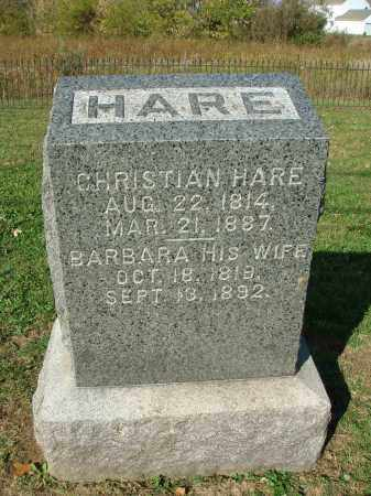 HARE, BARBARA - Franklin County, Ohio | BARBARA HARE - Ohio Gravestone Photos