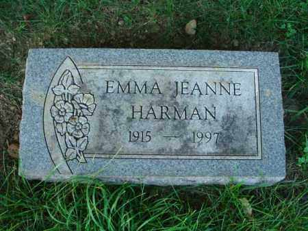HARMAN, EMMA JEANNE - Franklin County, Ohio | EMMA JEANNE HARMAN - Ohio Gravestone Photos