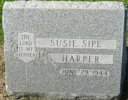 BAUGHER HARPER, SUSIE SIPE - Franklin County, Ohio | SUSIE SIPE BAUGHER HARPER - Ohio Gravestone Photos