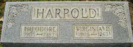 HARPOLD, VIRGINIA D - Franklin County, Ohio | VIRGINIA D HARPOLD - Ohio Gravestone Photos