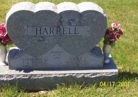 SPEELMAN HARRELL, ANNA L - Franklin County, Ohio | ANNA L SPEELMAN HARRELL - Ohio Gravestone Photos