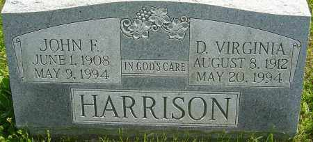 HARRISON, JOHN F - Franklin County, Ohio | JOHN F HARRISON - Ohio Gravestone Photos