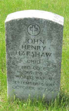 HARSHAW, JOHN HENRY - Franklin County, Ohio | JOHN HENRY HARSHAW - Ohio Gravestone Photos