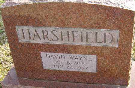 HARSHFIELD, DAVID WAYNE - Franklin County, Ohio | DAVID WAYNE HARSHFIELD - Ohio Gravestone Photos