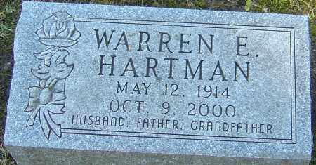 HARTMAN, WARREN E - Franklin County, Ohio | WARREN E HARTMAN - Ohio Gravestone Photos